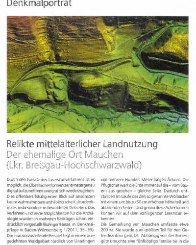 Zum Bericht Relikte mittelalterlicher Landnutzung